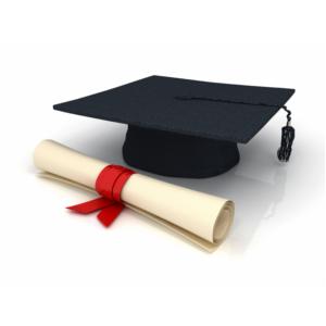 Graduation Cap and Scroll